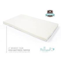Milliard 2 Pulgadas Ventilados Memory Foam Cuna / Cuna Colch