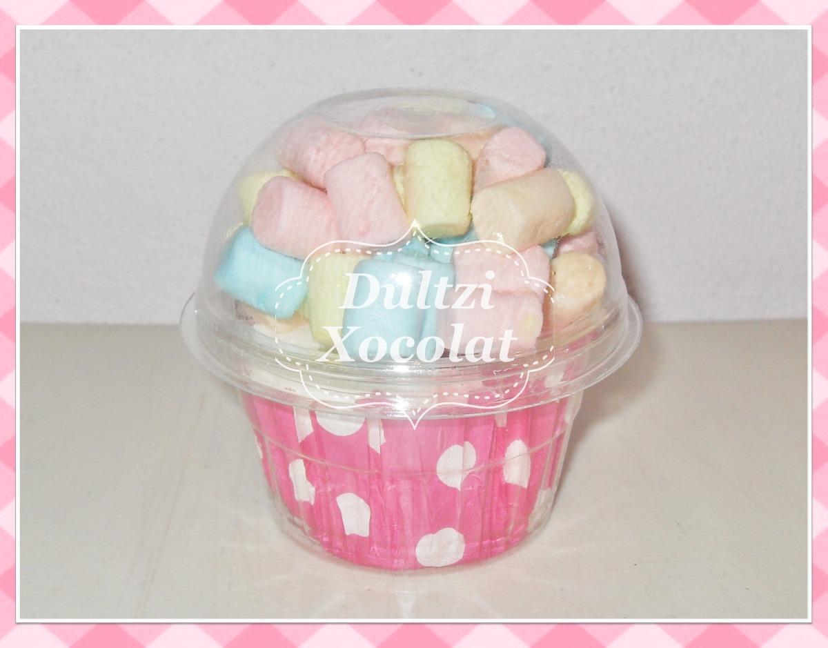 cup cake de bombones o toallita facial para recuerdos 680301