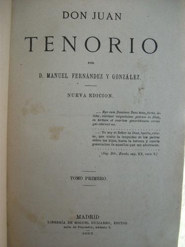 D. Manuel Fernández Y González, Don Juan Tenorio