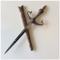 Daga Egipcia Ceremonial Osiris Cuchilla Recta Katanas Espada