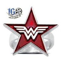 Anillo Wonder Woman Estrella Original Dc Igo Envio Gratis!