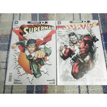 2 Comics Superman #0 Y Justice League #0 Dc Mexico