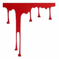 Perchero Decorativo De Metal Red Paint Pintura Escurrida