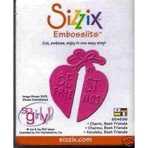 Scrapbook Suaje Emboss Sizzix Embosslits Corazon Best Friend