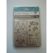 Scrapbook Cuttlebug Suaje Invierno Winter 4 Figuras Clasicas