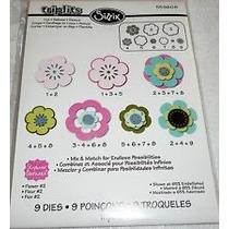 Scrapbook Sizzix Triplits 13 Suajes Troqueles De Flores # 2