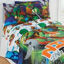 Tb Cobertor Tmnt Ninja Turtles Training 3pc Twin Bed Sheet