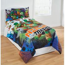 Tb Sabanas Tmnt Ninja Turtles Training 3pc Twin Bed Sheet