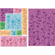 Scrapbook 10 Folders Cuttlebug All In One Plantas Y Flores