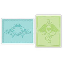 Scrapbook Folders Sizzix Crown Florish & Hearts Wing Set A2