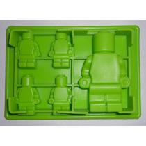 Molde Silicon Figura Hombrecillos Lego Mediano Chicos Amyglo
