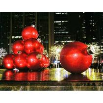 Esferas Navideñas Gigantes De Fibra De Vidrio, 500 Colores