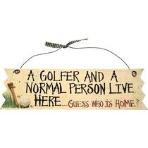 Golf Regalo - Novedad Signos 'un Golfista Y Una Persona