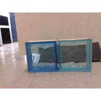 Vidrio Block Azul Cristal Maa