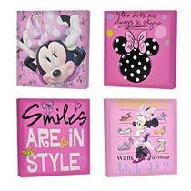 Disney Minnie Mouse Canvas Wall Art (4 Piezas)