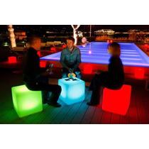 Puff Iluminado Cubo Iluminado Control Remoto Salas Lounge