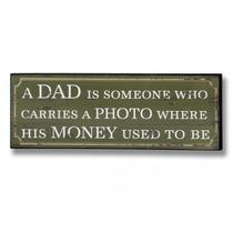 Mensaje Placa - Un Papá Lleva Una Sesión De Fotos Colgante