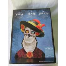 Cráneo Catrina Con Luces Led Cambiantes D Color Par Hallowen