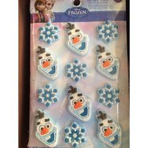 Decoraciones De Azúcar Olaf Frozen 12 Pza 3cm Marca Wilton