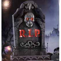 Lapida De Tumba Con Luz Y Sonido De Terror Para Halloween