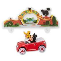 Mickey Mouse Y Pluto Coches Decoset Decoración De La Torta