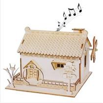 Artesanías Caja De Música Para Casas De Madera