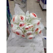 Flta2. Flor Artificial Ramo Rosas 24 Botones. Precio Unit