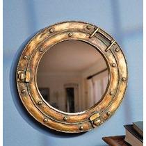 Náutico Buque Porta Espejo De Pared De La Decoración