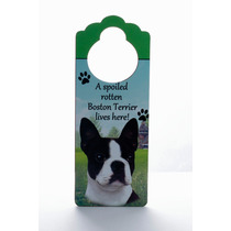 Adorno Para Puerta Boston Terrier - Unicos!