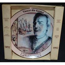 Plato De Porcelana Fina Vasco Da Gama De Colección