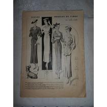 Revista De Modelos De Vestidos 1950