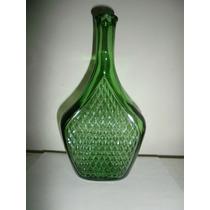 Hermosa Botella De Vidrio Verde Hecha En Italia