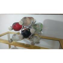 Caba De Vinos O Botellas Antigua Alumunio Con Bronce