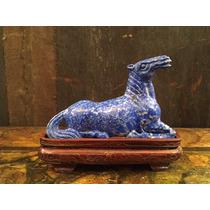 Pequeño Caballo En Lapiz Lazuli De Origen Asiatico....