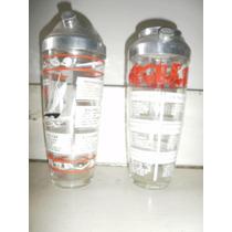 2 Agitador De Cocteles De Vidrio Y Aluminio Con Receta
