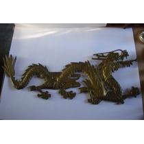 Dragon Oriental De Bronce Figura En Relieve
