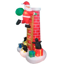 Santa Claus Chimenea Adorno Inflable Para Navidad Hm4