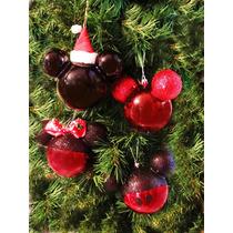 Mickey Mouse Santa Esferas Decorativas Mimi Disney Adornos