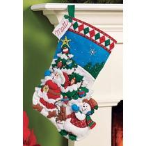 Bucilla Original. Bota Navideña Pick A Tree Navidad