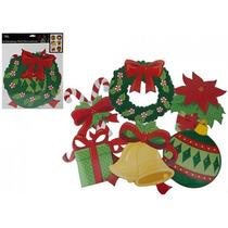 Decoración De Navidad - 6pc Cartón Tradicional Xmas Pared