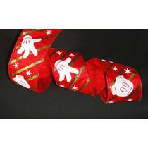 Listón Navideño Mickey Mouse Mimi Disney Navidad Regalo