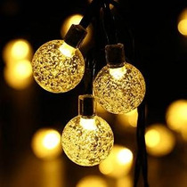 Ledertek Solar De Navidad Powered Globe Luces, Blanco Calien