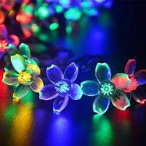 Ledertek Flor Solar Powered Luces De Navidad Multicolor 50 2