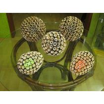 Kit De Esferas Navideñas De Bambú