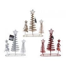 Adornos De Navidad - Conjunto De 3 De Plata Rojo Y Oro