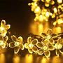 Ledertek Solares De Navidad De Flor Estrellado Luces De Hada