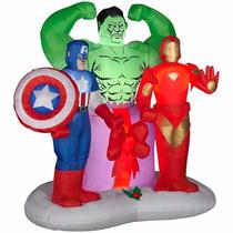 Super Heroes Vengadores Marvel Inflable Navidad Adorno