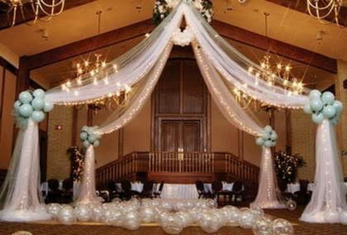 Decoraci n con globos mesa de dulces cumplea os xv a os - Decoracion bodas con globos ...