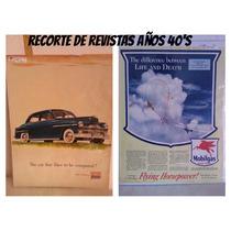Antiguos Recortes De Revistas Auto Plymouth Y Mobilgas