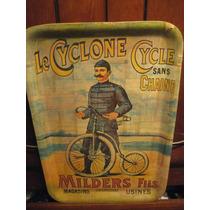 Charola Vintage Antiguo Ciclista